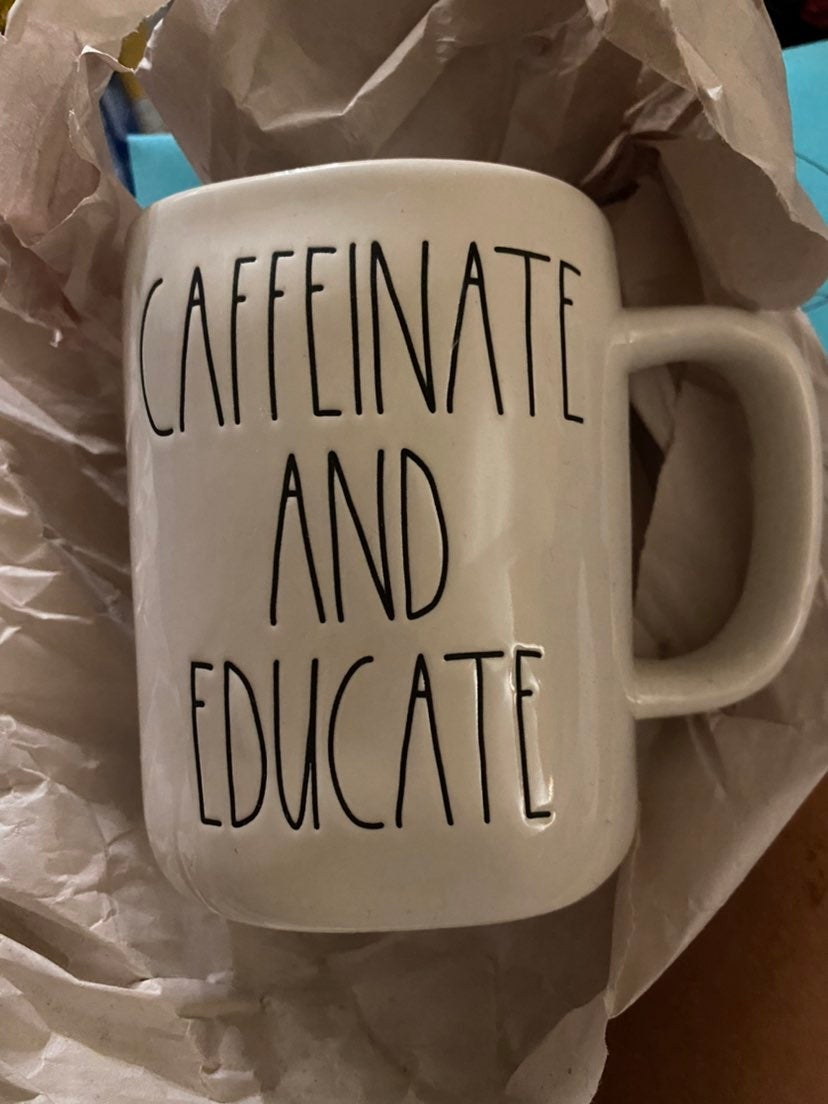 Rae Dunn Caffeinate and Educate