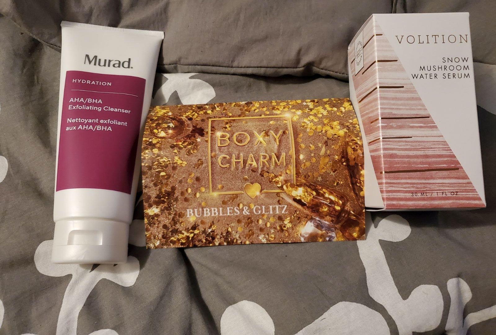 Brand new skincare items from boxy charm