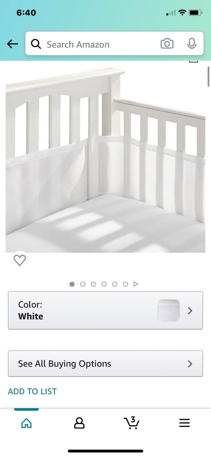 Mesh  Crib Bumper