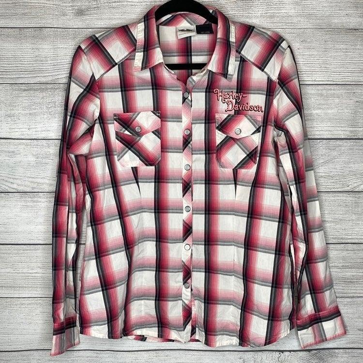 Harley Davidson Pearl snap shirt