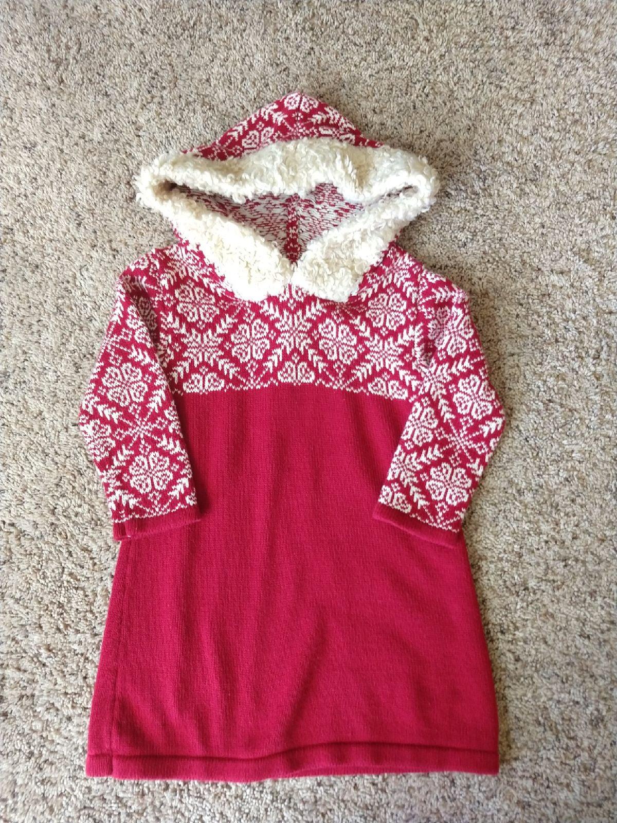 LL Bean Girls Sweater Dress size 2T