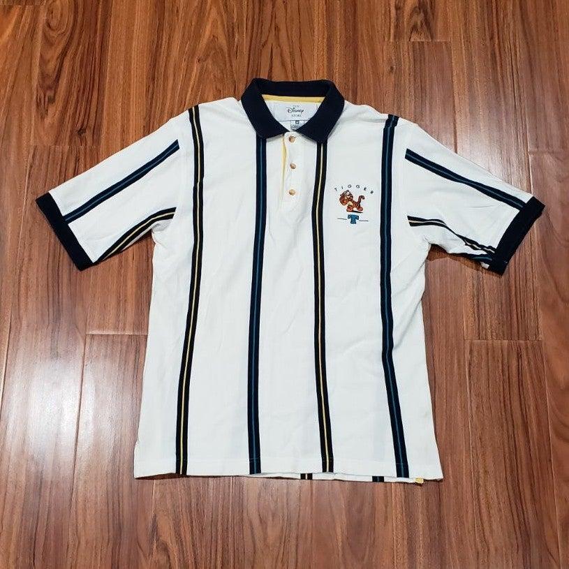Vintage 90s Tigger Disney Striped Polo