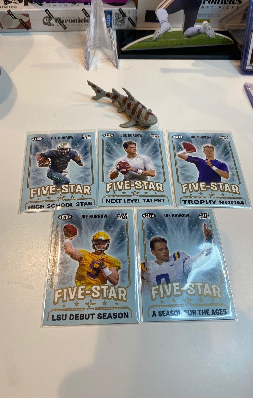 Sage Joe Burrow Five Star Gold Card Lot