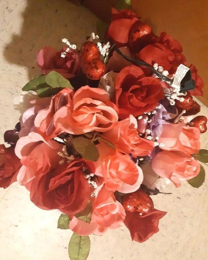 Valentine door and floral arrangements b