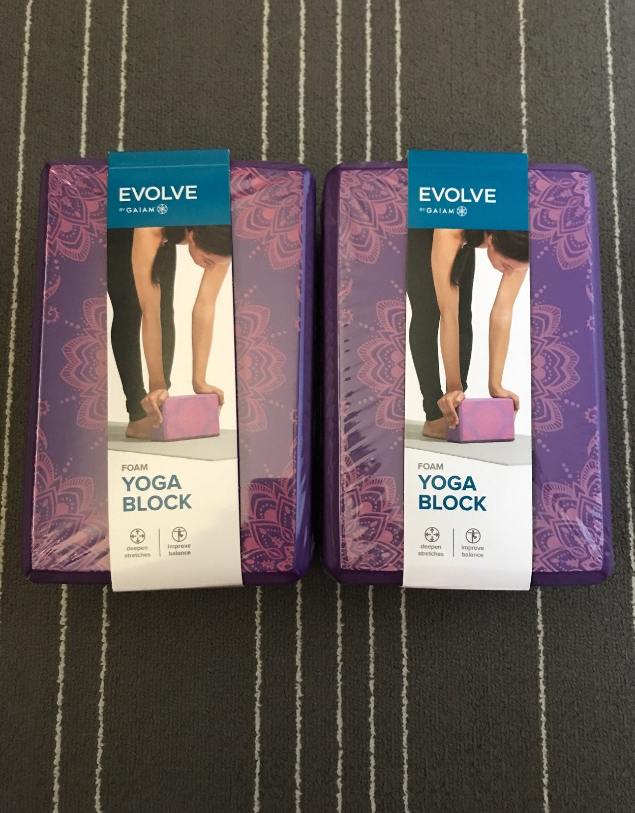 Set of 2 Gaiam Foam Yoga Blocks