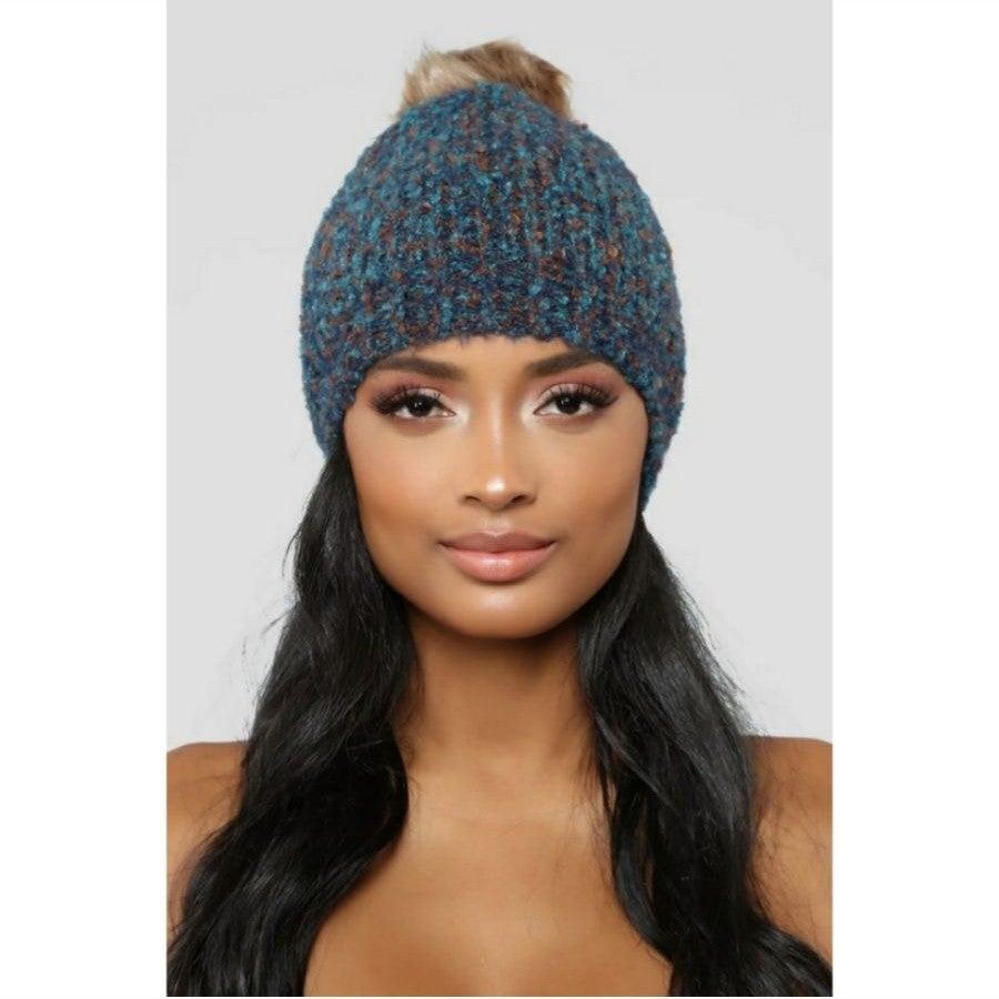 NEW Fashion Nova Beanie - blue