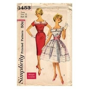 Simplicity Party Dress Pattern #3453