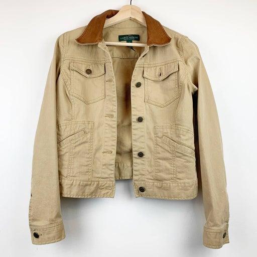 Ralph Lauren Jacket Leather Collar S