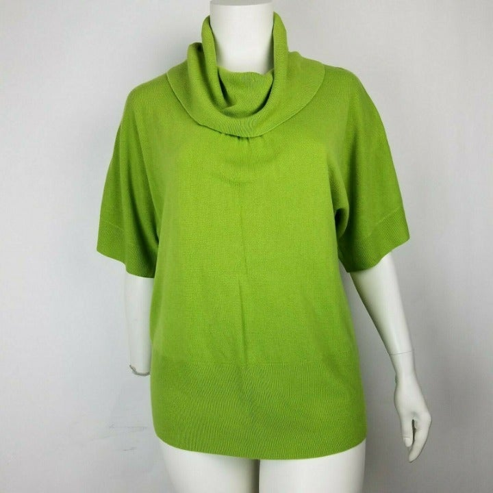 Avenue Sweater Cowl Neck Green 18/20