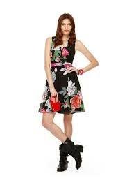 Colorful floral dress size 10