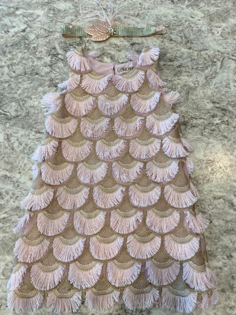 Oshkosh Flapper Dress & Headband 3T