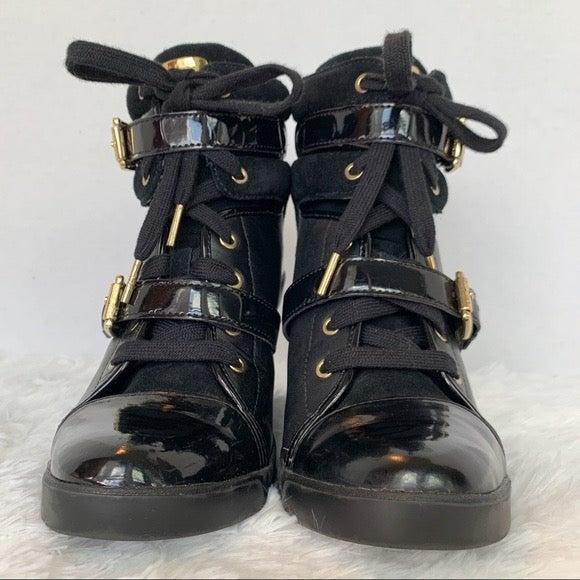 Michael Kors Leather Wedge Sneaker