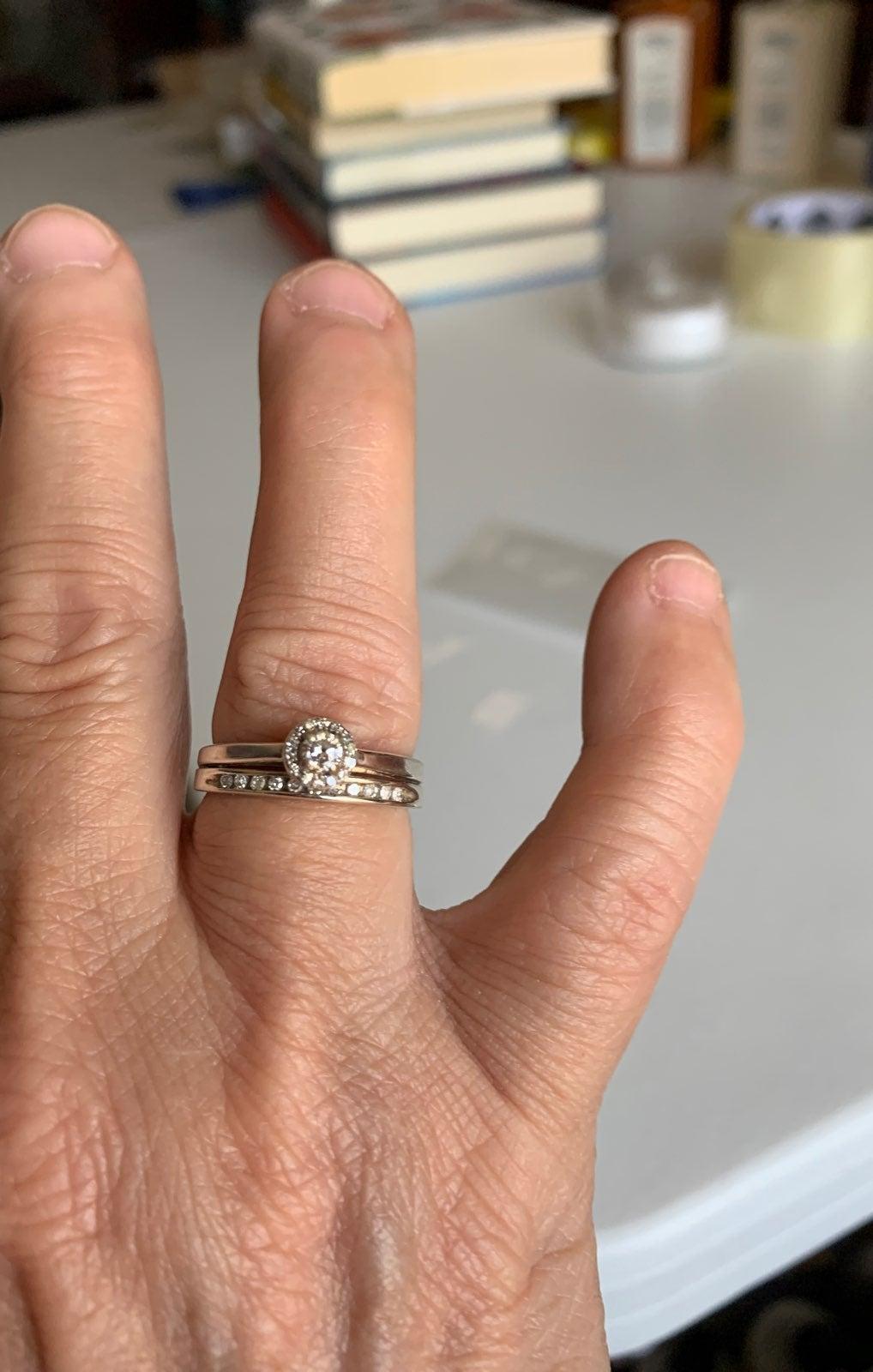 SS Wedding Ring Set