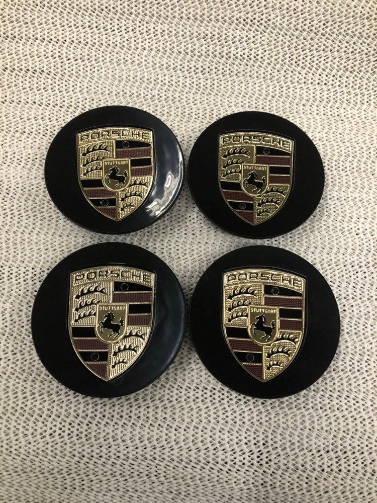 4 center cap black Porsche 76 mm new