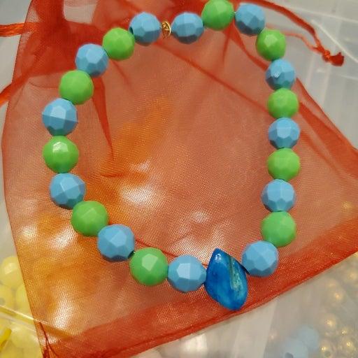 Rhodium Turquoise Bracelet Trio