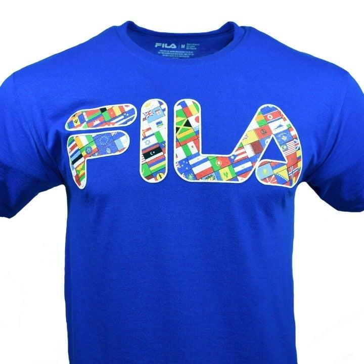 FILA Men's T Shirt Logo Olympic Flags