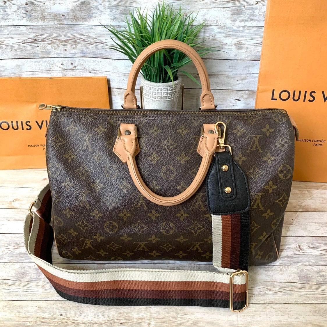 ❤️Autentic❤️LOUIS VUITTON Speedy 35