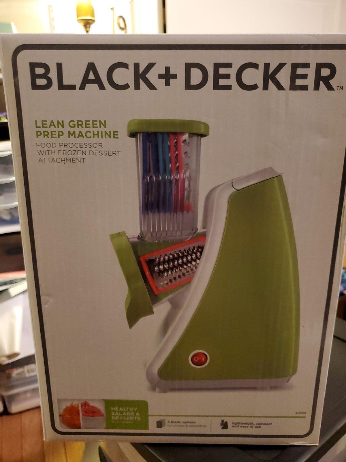 Black and Decker Lean Green Prep Machine