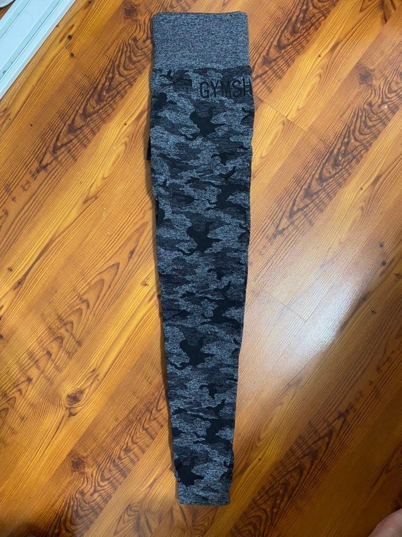 Gymshark camo seamless leggings Black