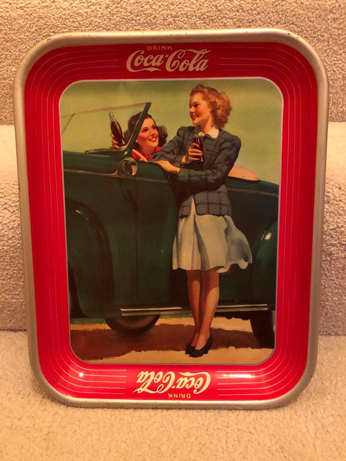 CocaCola Vintage Girls car coke bottles