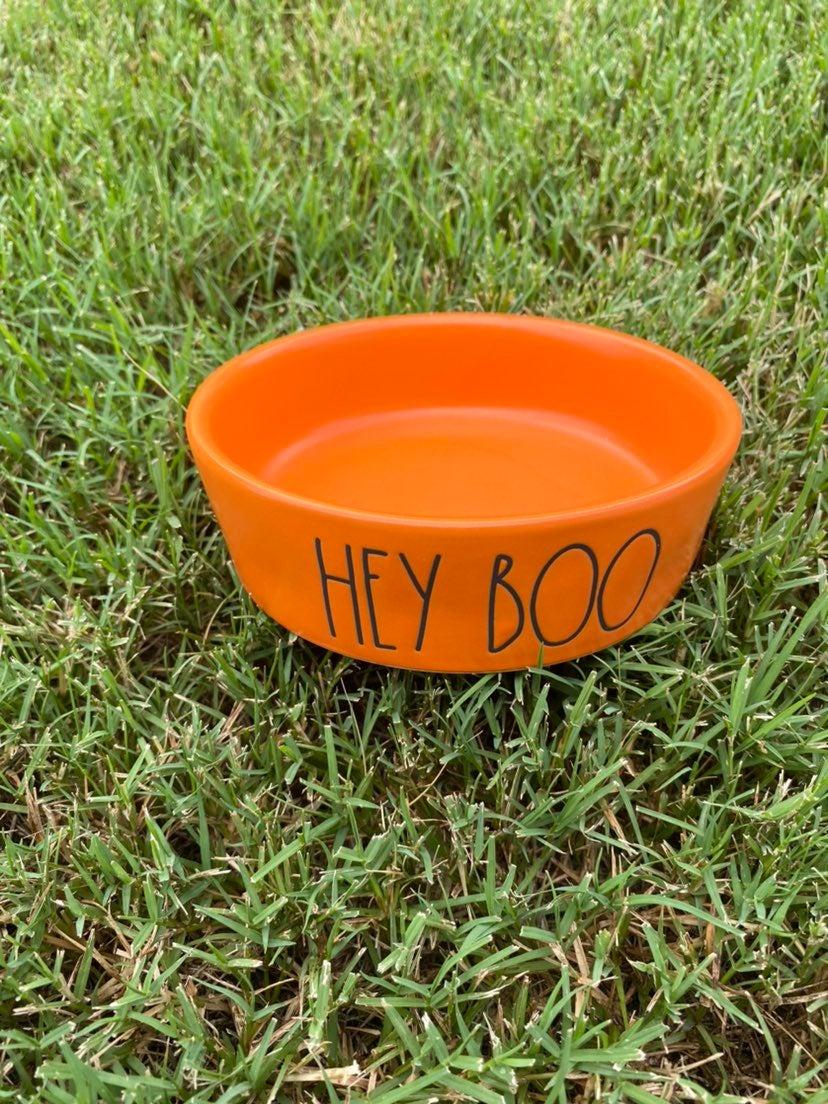 rae dunn hey boo bowl