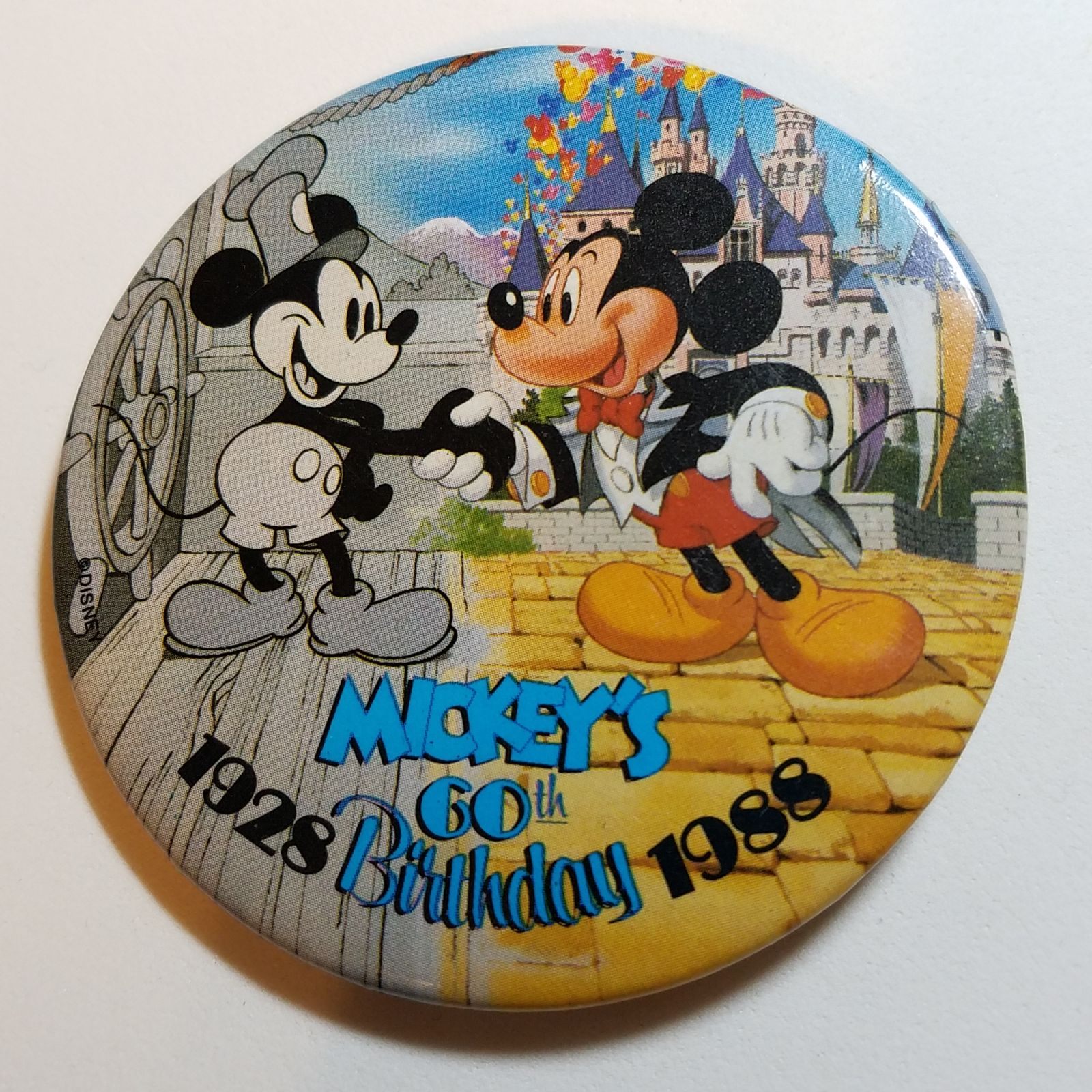 Mickey's 60th Birthday Disney Button
