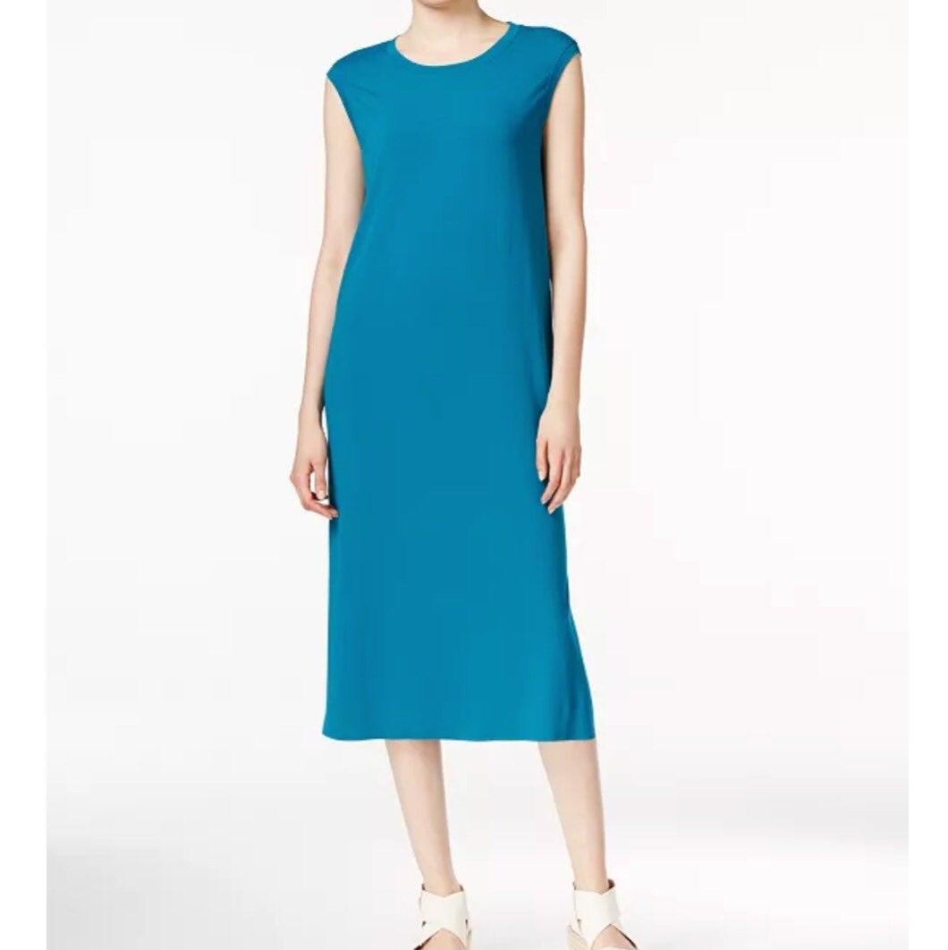Eileen Fisher Crew Neck Sleeveless Dress