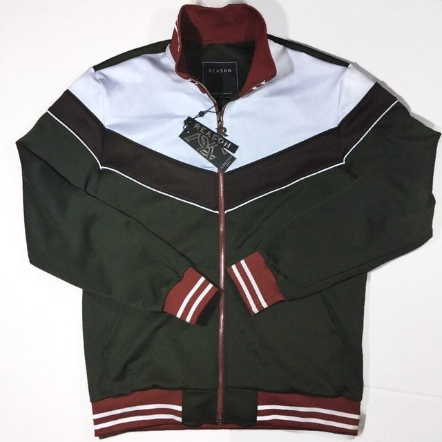 Men's Green and red Track jacket. Size L
