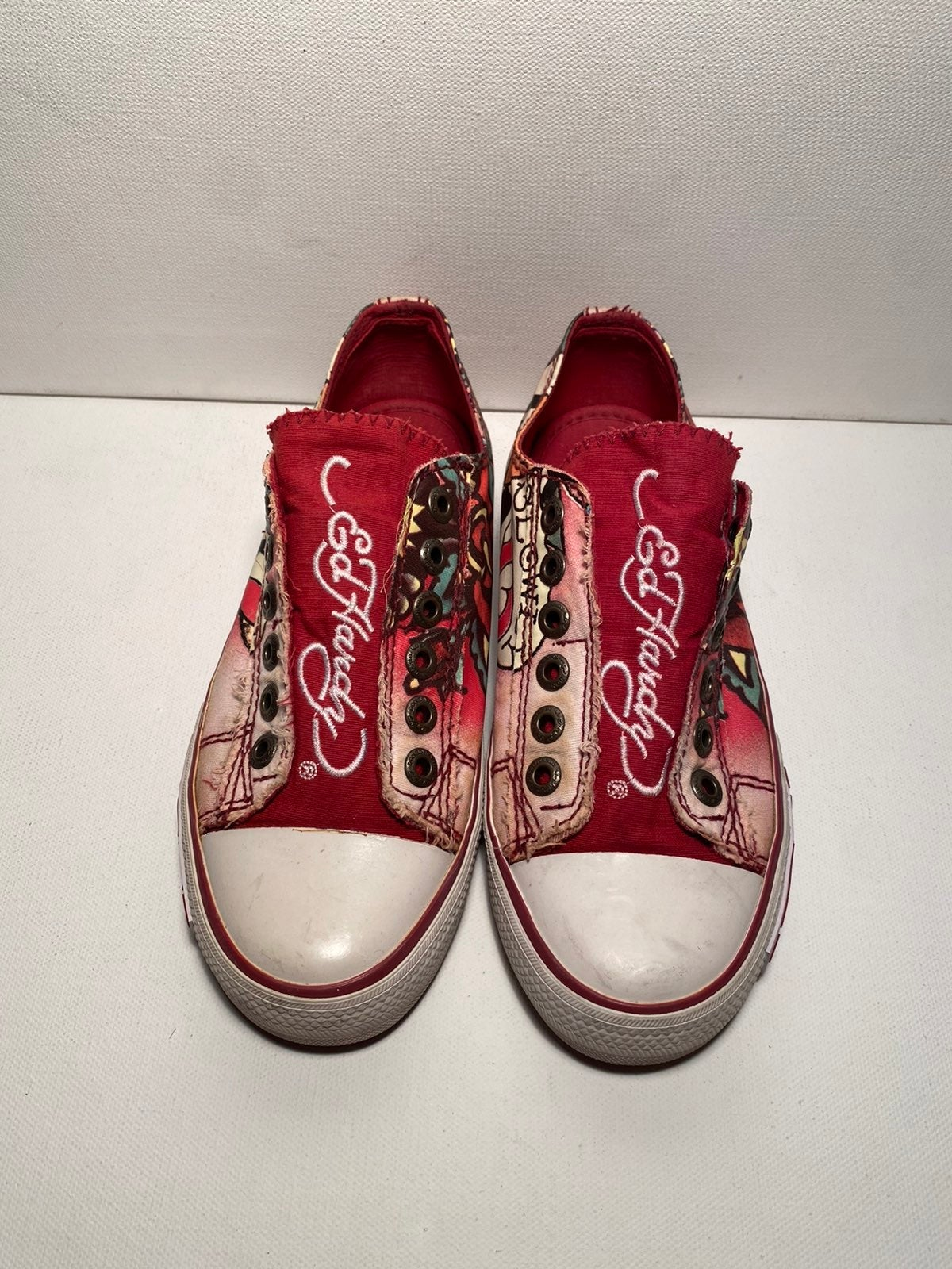 ED HARDY Laceless Low Top Shoes