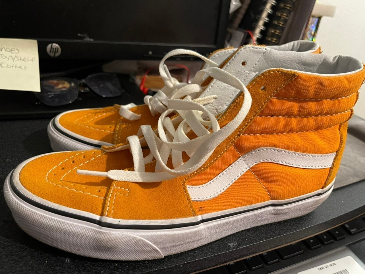 Yellow / gold vans size 7