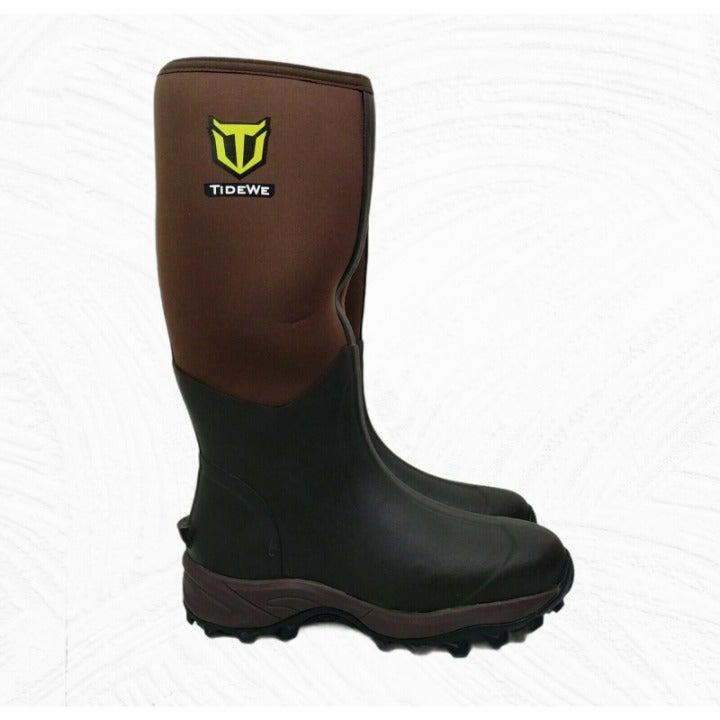 TIDEWE Rubber Neoprene Boots Men and Women Waterproof Durable 6mm Boots