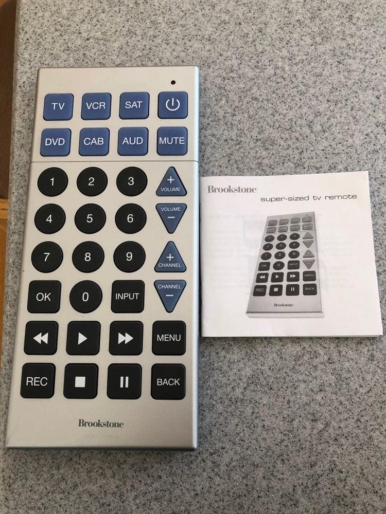 Brookstone super size TV remote