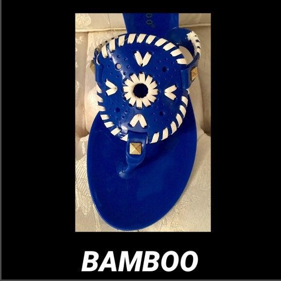Bamboo Electric Blue Tribal Flip Floo