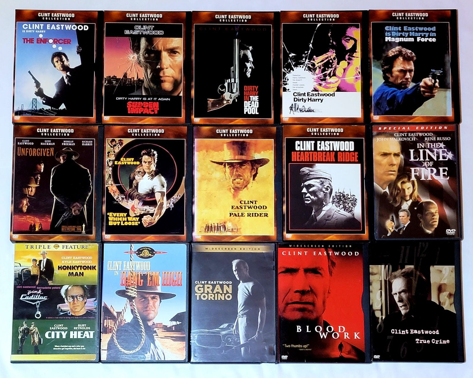 Clint Eastwood 17 Movie Lot Dirty Harry