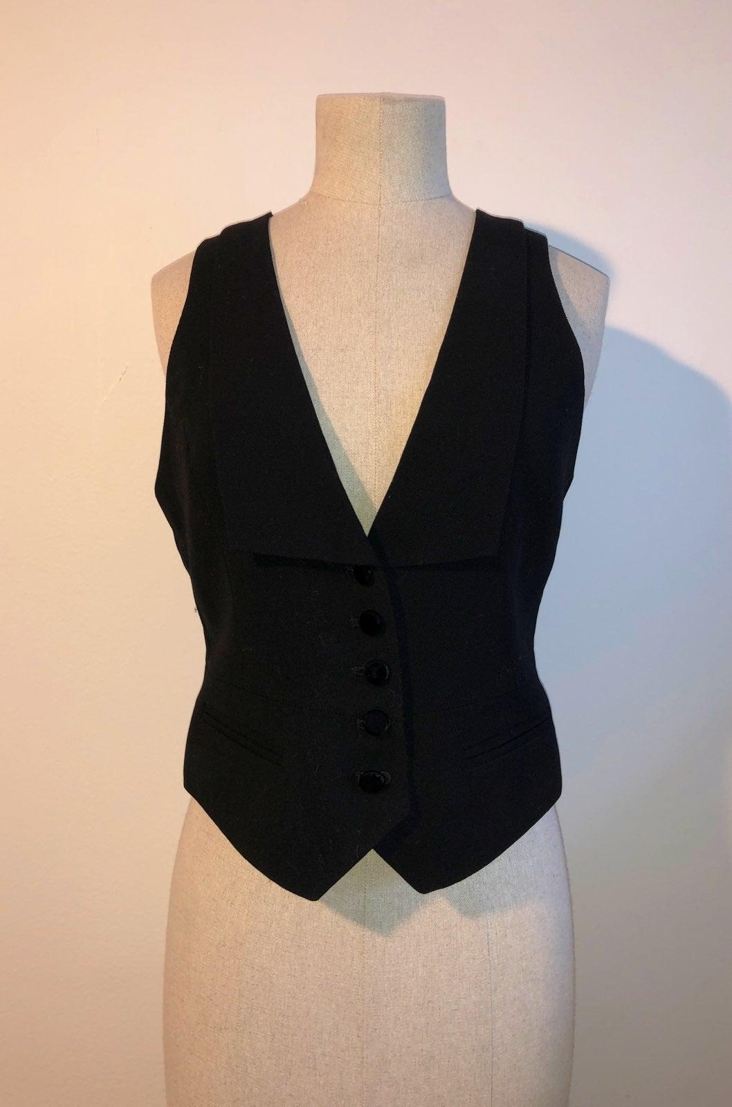 Dana Buckman Black Wool Vest