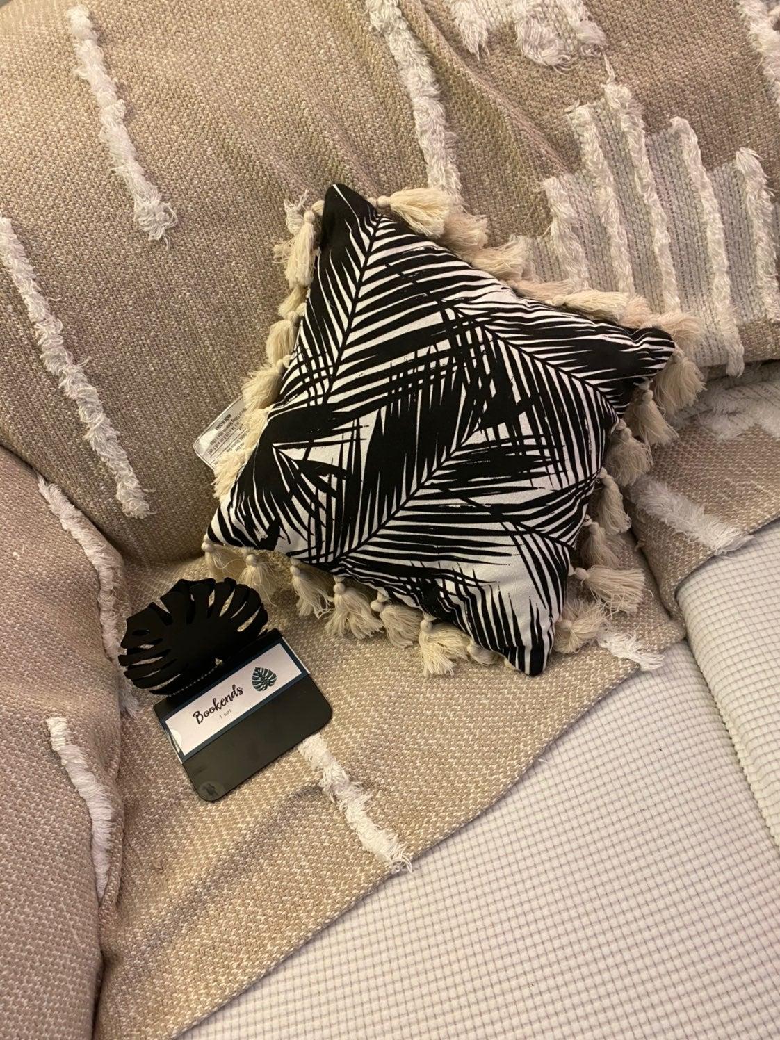 Matching pillow & book holder