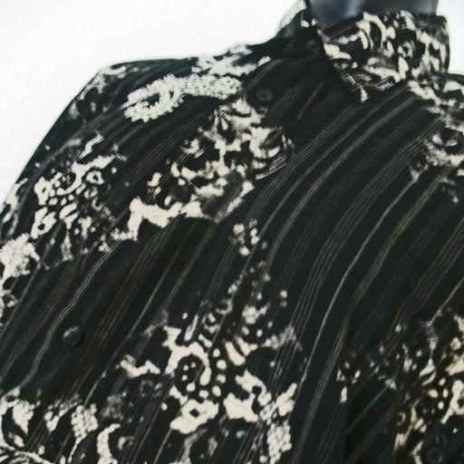 Crazy Horse a Claiborne Co. Black Paisley Button