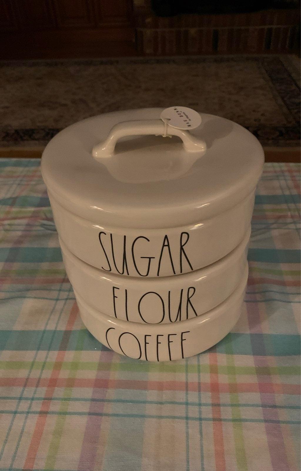 Rae Dunn LARGE Coffee, Flour, Sugar