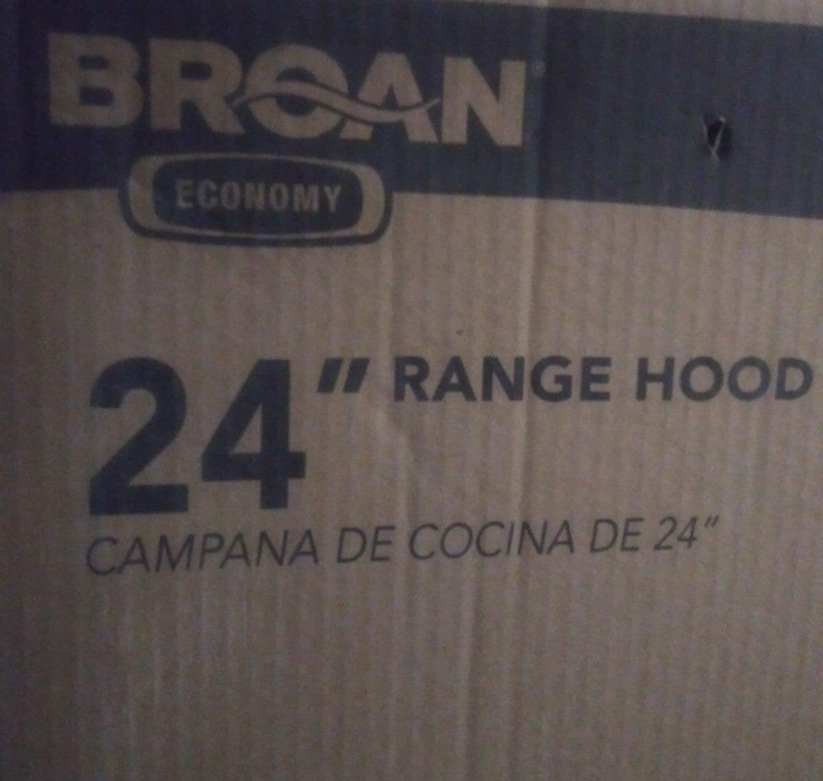 Broan 412401 Range Hood, White, 24-Inch