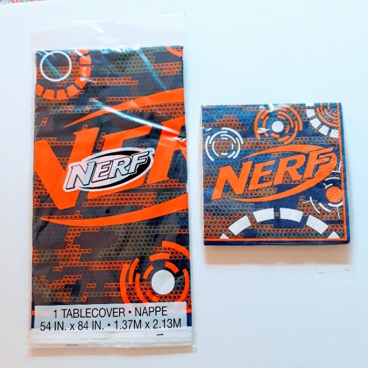 NERF Party Supplies Napkins Table Cover