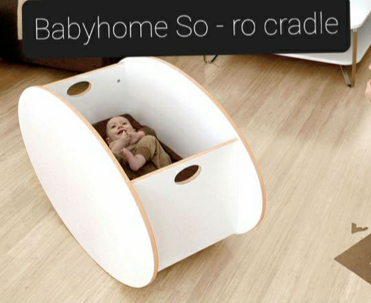 Babyhome So ro baby Cradle - White