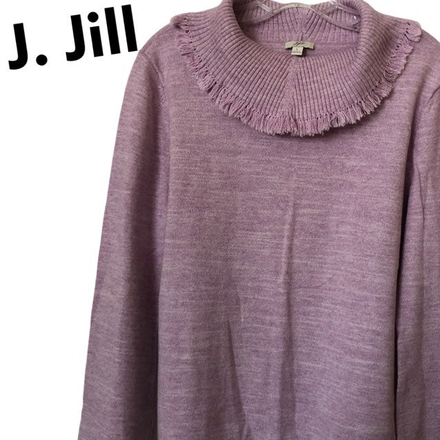 J.Jill Cowlneck Sweater Lavender L