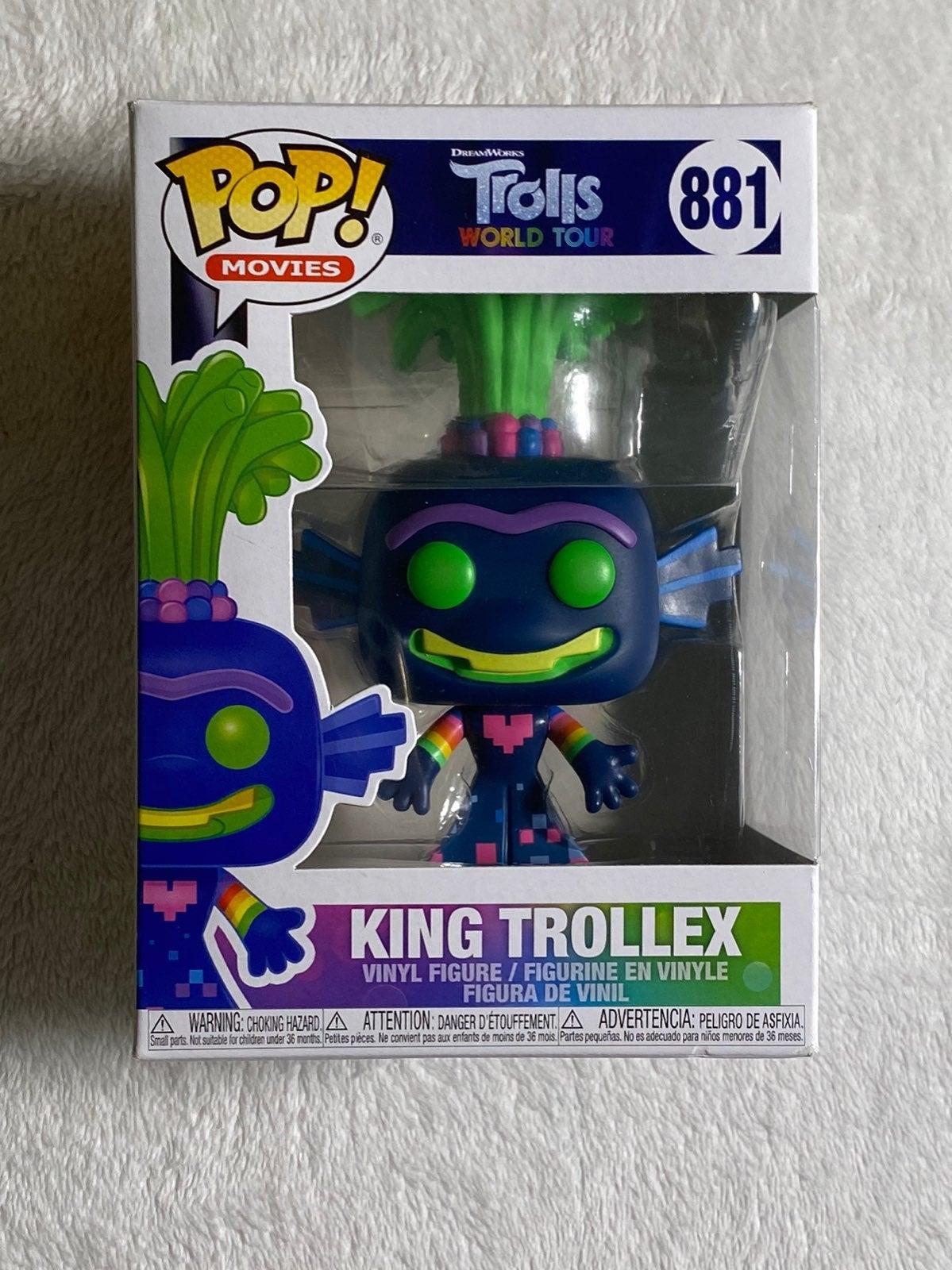 Funko Pop 881 King Trollex Trolls New