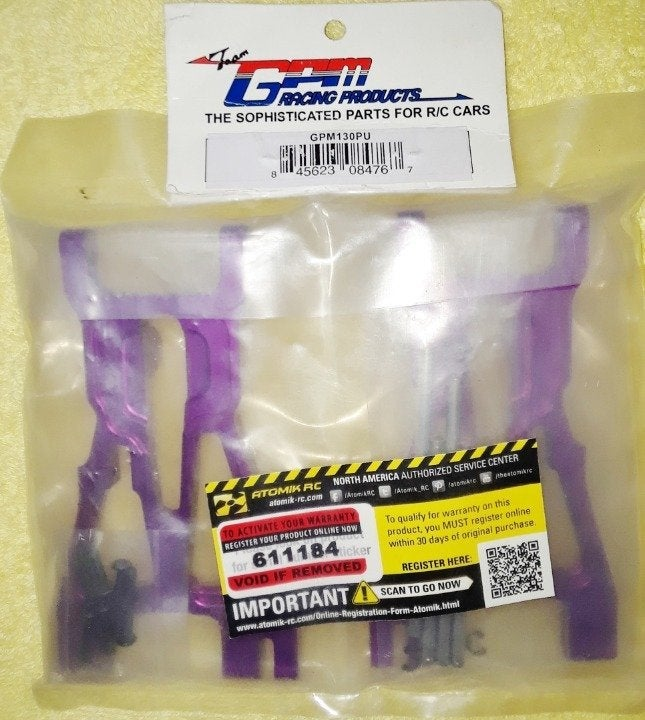 GPM Racing LowerArm Set F/R 1:8 HPI Flux