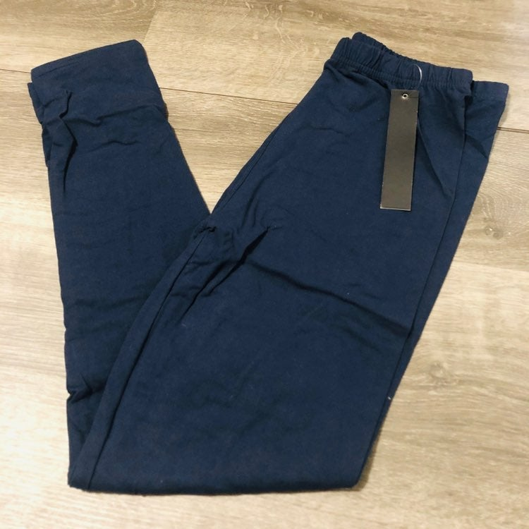 Solid Navy Queen Size Leggings