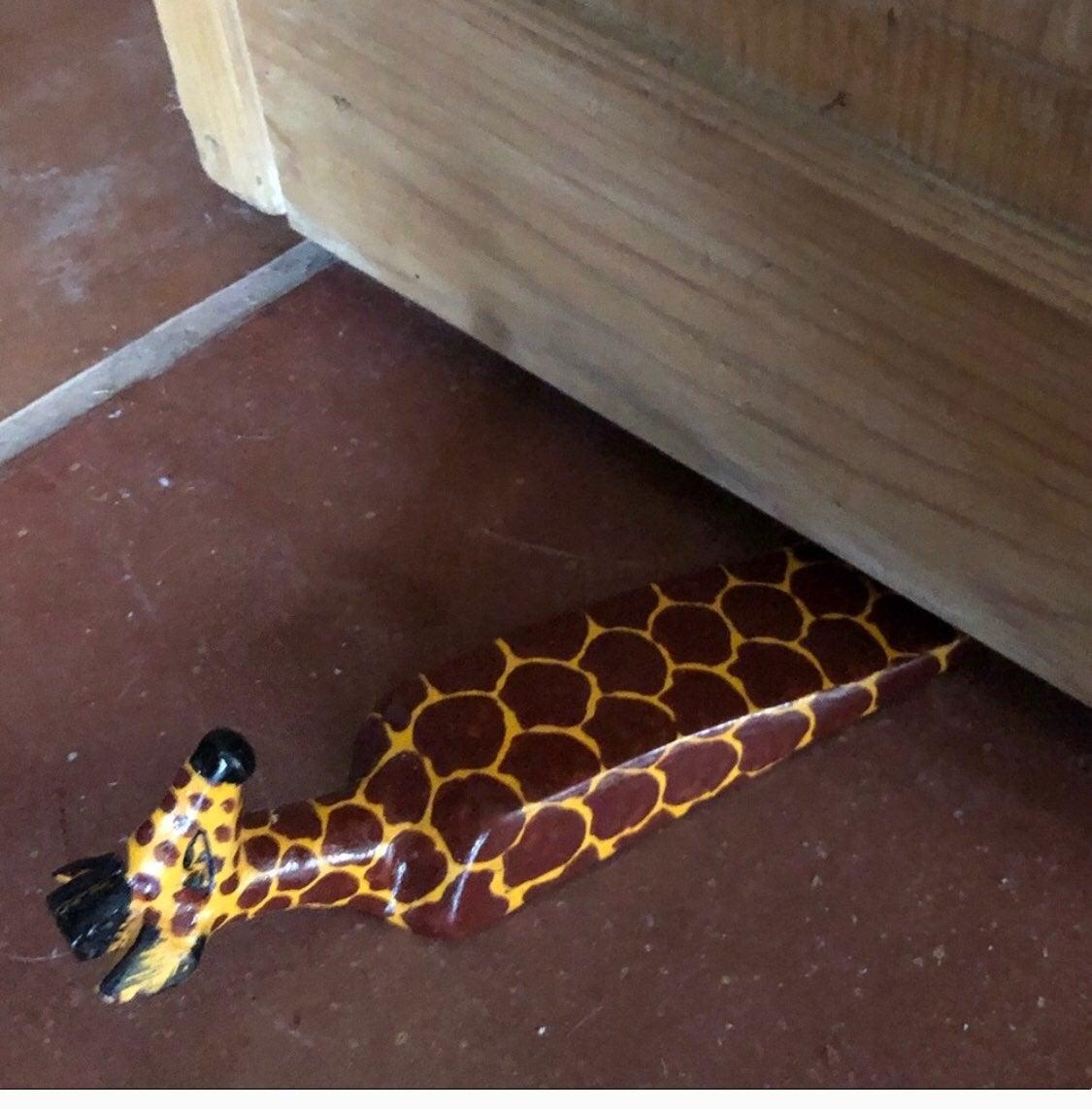 Wooden Giraffe Door Stop. Made in Kenya