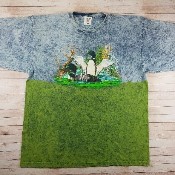 VTG 90s Loons On Water Mineral Wash Tee