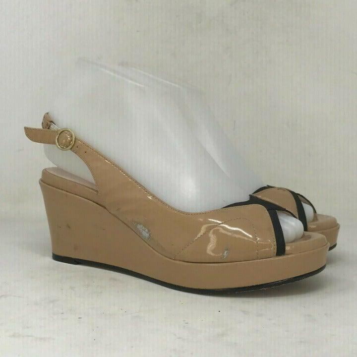 Taryn Rose Womens Tan Sandals Heel Sz 6M