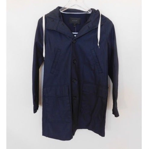 J Crew Hooded Jacket Womens Sz XS Navy