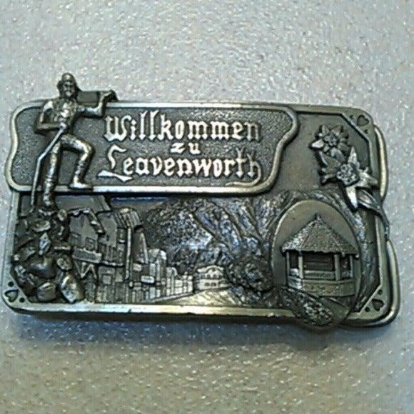 vintage Leavenworth WA belt buckle